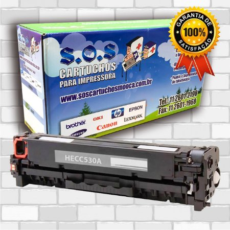 TONER COMPATÍVEL COM HP CF380/CE410/CC530 PRETO (100% NOVO)