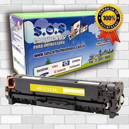TONER COMPATÍVEL COM HP CF382/CE412/CC532 AMARELO (100% NOVO)