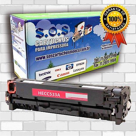 TONER COMPATÍVEL COM HP CF383/CE413/CC533 MAGENTA (100% NOVO)