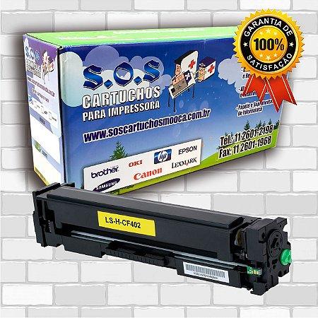 TONER COMPATÍVEL COM HP CF402A AMARELO (100% NOVO)