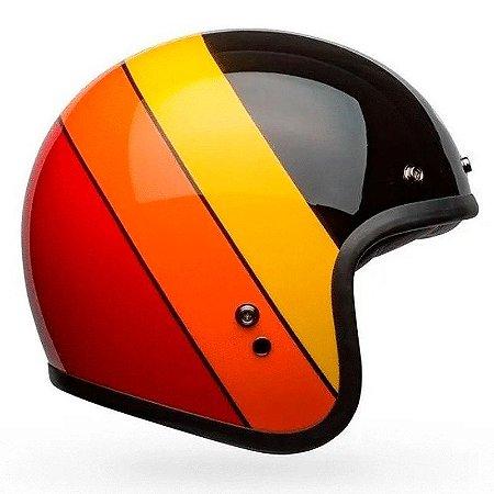Capacete Bell Custom 500 Riff Black Yelow Orange