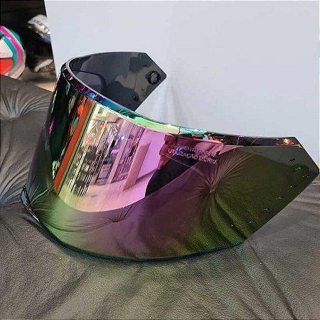 Viseira Original Camaleão em policarbonato antirrisco para o capacete Bieffe B-12