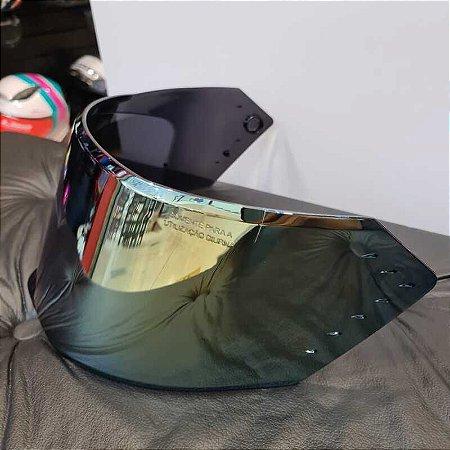 Viseira Original Dourada em policarbonato antirrisco para o capacete Bieffe B-12