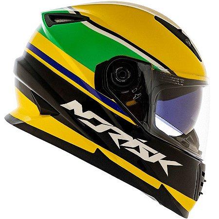 Capacete Norisk FF302 Champion Amarelo (C/ Viseira Solar)