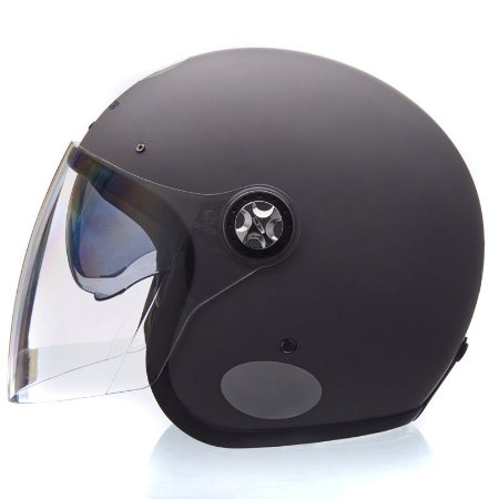 Capacete Lucca Galaxy Matt Titanium (c/ viseira Retrátil e Bubble Cristal)