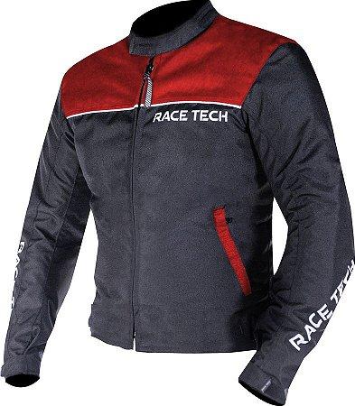 Jaqueta Race Tech Fast Preta e Vermelha