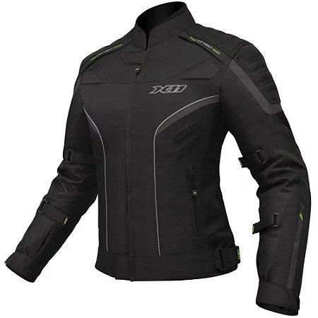 Jaqueta Motociclista X11 Iron 2 Feminina Impermeável Preta