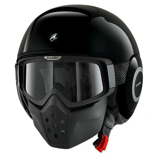 CAPACETE SHARK RAW BLANK BLK