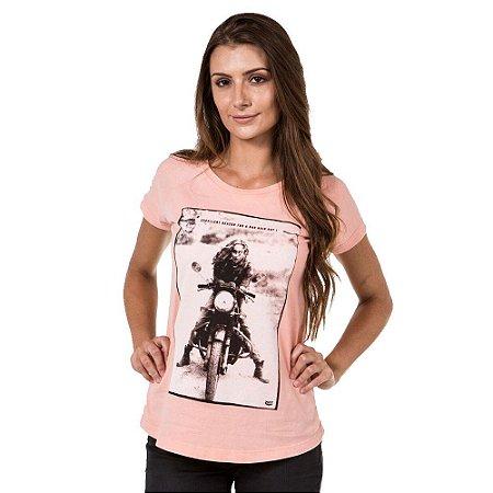 Camiseta She Ride - Salmão