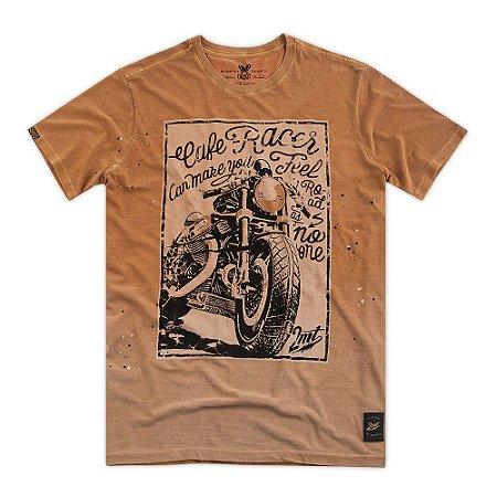 Camiseta Café Racer - Camelo
