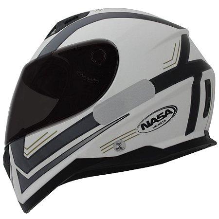 Capacete Nasa SH-881 Elegance - Branco e Preto