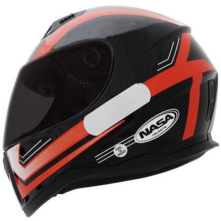 Capacete Nasa SH-881 Elegance - Preto e Vermelho