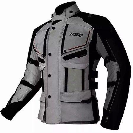 Jaqueta X11 Motociclista Travel 2 Special Tour Cinza Clara