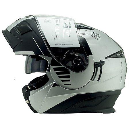 CAPACETE 3020 PRATA FOSCO/AB12 CRUISER BLK