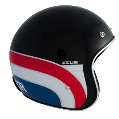 CAPACETE ZEUS 380H MATT BLACK/K63 RED