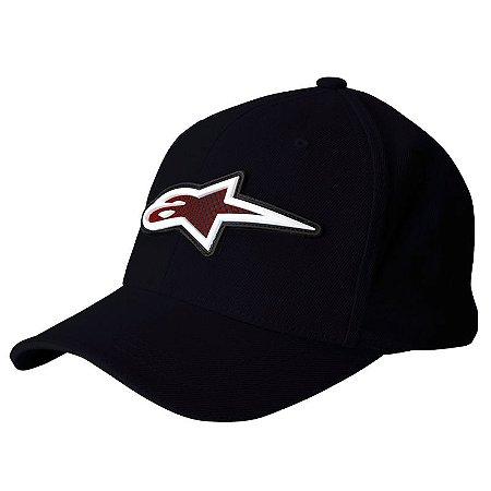 Boné Alpinestars Astar Rubber Logo Preto