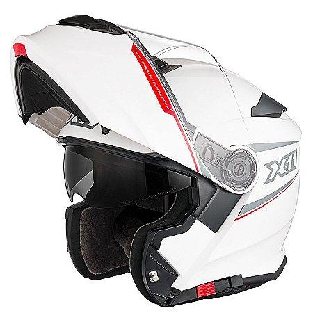 Capacete X11 Turner SV Branco com Viseira Solar