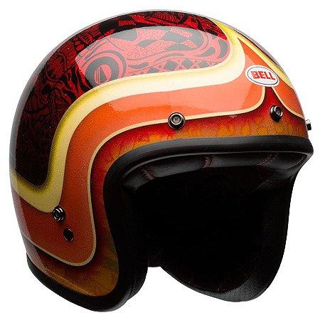 Capacete Bell Custom 500 Hart Luck Red Black