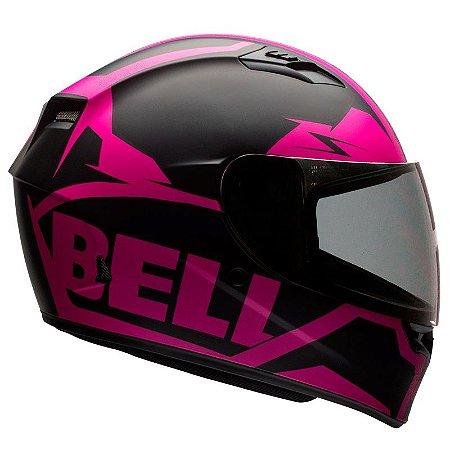 Capacete Bell Qualifier Snow Pink Black Fosco