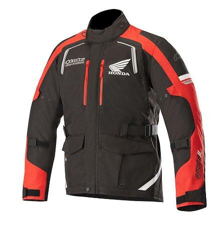 Jaqueta Alpinestar Honda Andes V2 Drystar® Impermeável - Preto e Vermelho