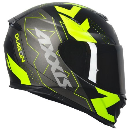 Capacete Axxis Eagle Diagon Matt Black Yellow