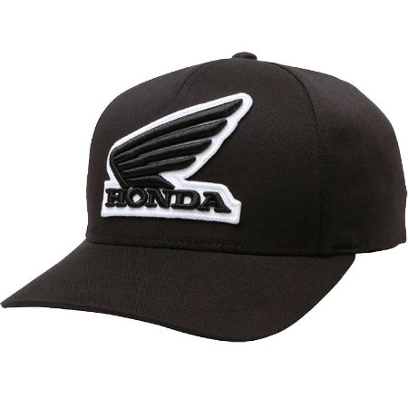 Boné Fox Lifestyle Honda Flexfit Hat Preto