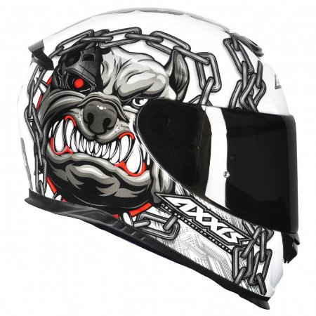 Capacete Axxis Eagle Bull Cyber White