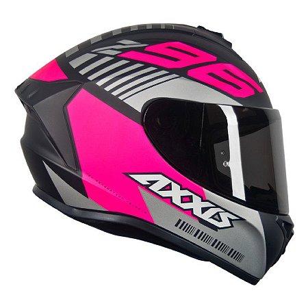 Capacete Axxis Draken Z96 Matt Black Pink