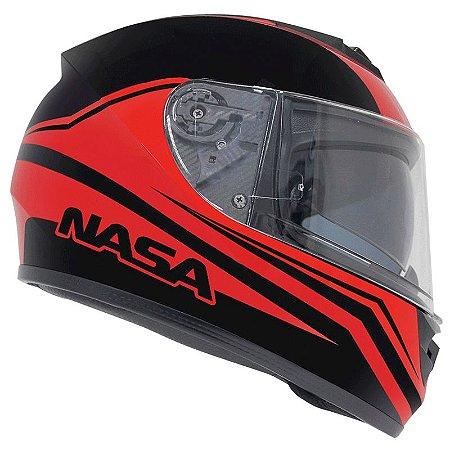 Capacete Nasa Racing Ns-901 Lava com viseira solar
