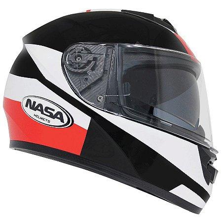 Capacete Nasa Racing Ns-901 Star com viseira solar