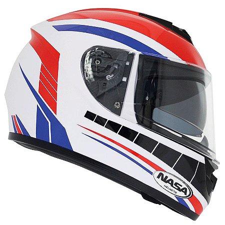 Capacete Nasa Racing Ns-901 França com viseira solar