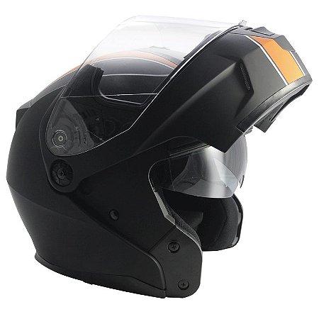 Capacete Nasa Racing Ns-1001 Custom Fosco Articulado Com Viseira Solar