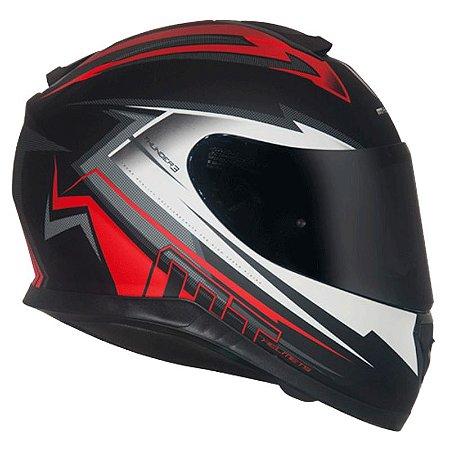 Capacete Mt Thunder3 Trex Matt Black/Red