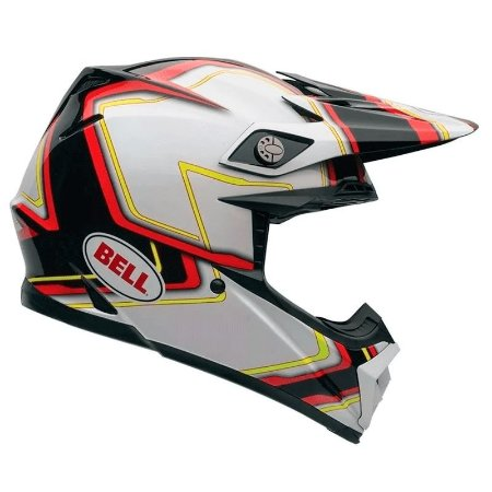 Capacete Bell Moto-9 Pace Black White