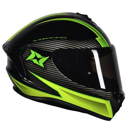 Capacete Axxis Draken Track Gloss Black Yellow