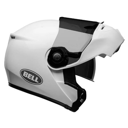 Capacete Bell Articulado Srt Modular Solid Gloss White (Com viseira Solar)