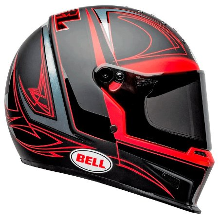 Capacete Bell Eliminator Hart Luck Matte Gloss Black Red
