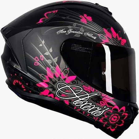 Capacete Axxis Draken Butterfly Matt Black/ Pink