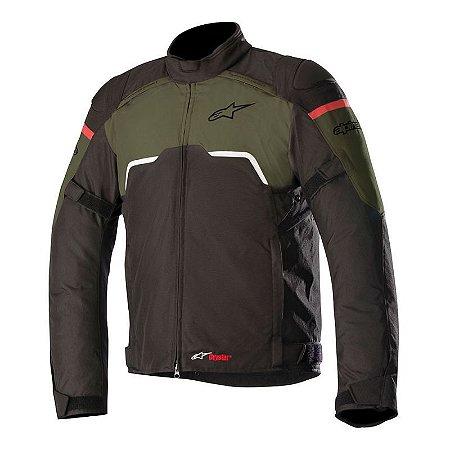 Jaqueta Alpinestars Hyper Drystar Black/Verde Militar