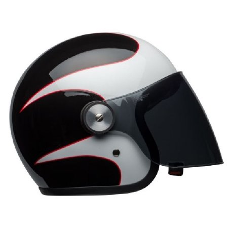 CAPACETE BELL RIOT BOOST WHITE BLACK/RED (ABERTO)