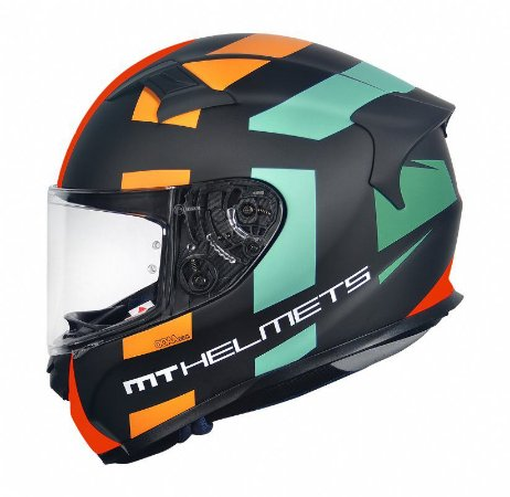 Capacete Mt Kre Sign Matt Orange Fluor