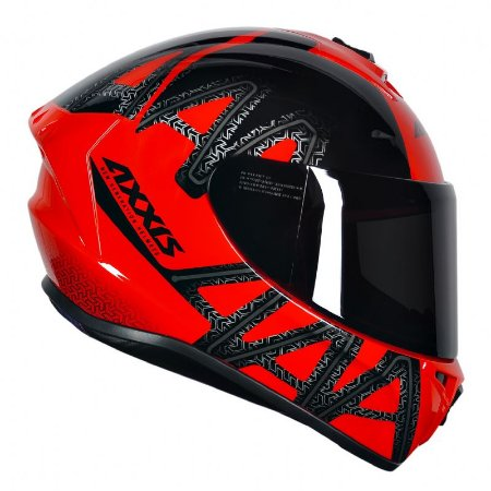 Capacete Axxis Draken Dekers Gloss Red Black