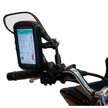 Suporte de Celular para moto impermeável MOTOCOM de Retrovisor Scooter