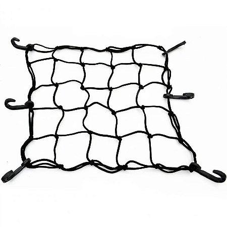 Rede elástica (Aranha) 42x42 Preto - 5 Espaços