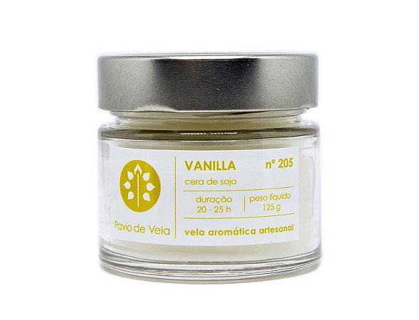 Vela Perfumada Pavio de Vela: Vanila No.205 - 145g