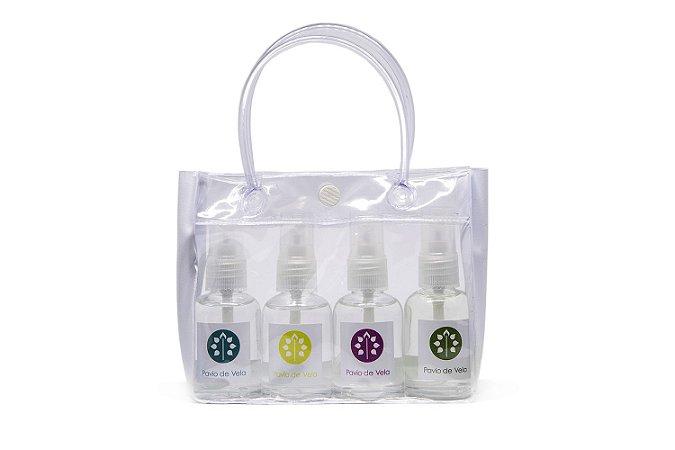 Kit Quatro Mini Sprays Pavio de Vela