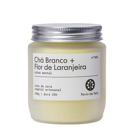 Vela Cha Branco + Flor de Laranjeira | 35 horas (Floral)