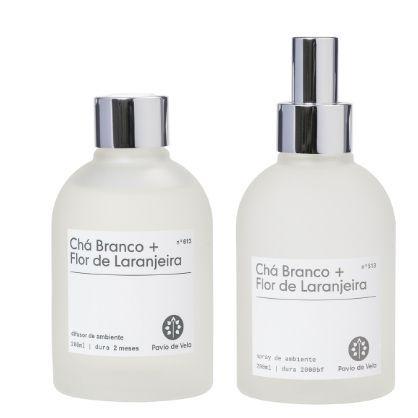 Combo Cha Branco + Flor de Laranjeira | Refrescante (Spray + Difusor)