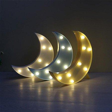 Abajur de LED 3D Lua - Lâmpada Luminária de Mesa Casa e Decoração Moon