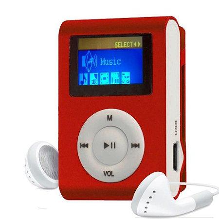 MP3 Player com Entrada SD e Fone de Ouvido